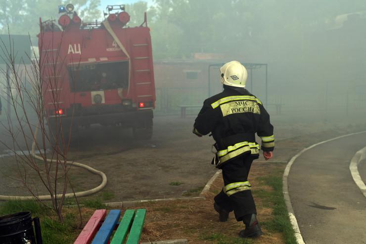 rusija vatrogasci, požar