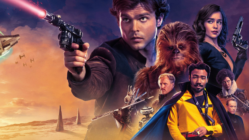 "Poster oficial pentru ""Solo: a Star Wars story"""