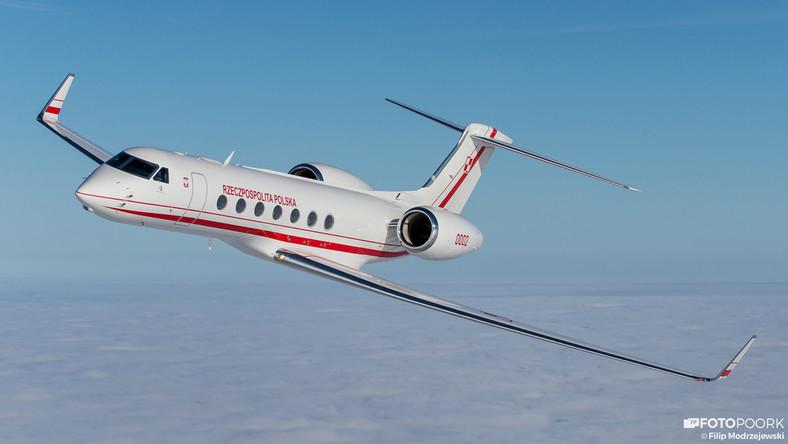 Rządowy Gulfstream G550 - smukła sylwetka i bogate wnętrze