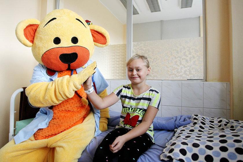 Maskotka Misia zaczęła pracę w Górnośląskim Centrum Zdrowia Dziecka w K-cach