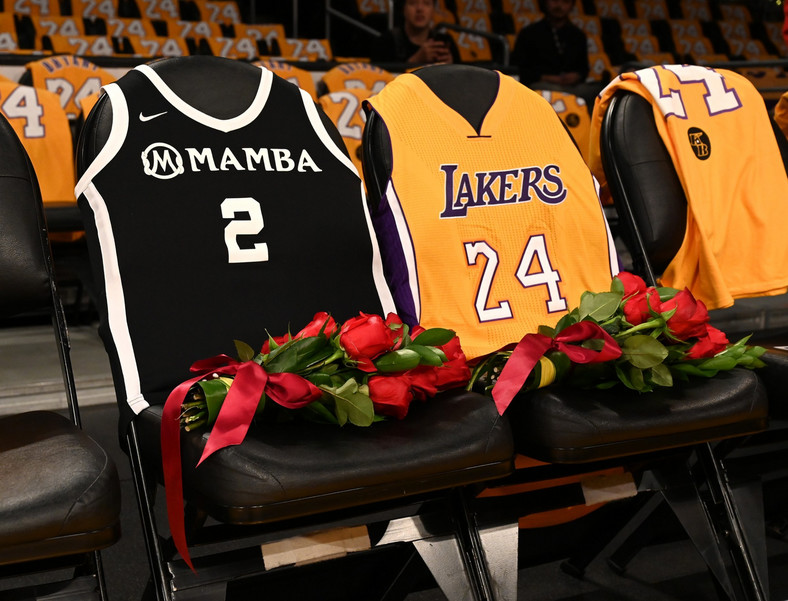 kobe bryant gianna bryant courtside empty seats lakers game