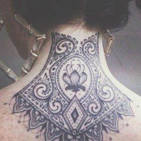 Tatuaże Na Karku 30 Damskich Wzorów