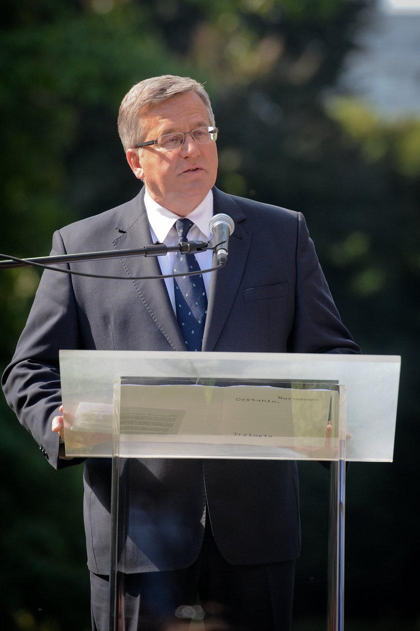 Para prezydencka czyta Sienkiewicza
