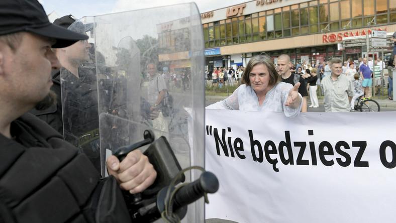 Radna PiS Anna Kołakowska podczas Trójmiejskiego Marszu Równości w roku 2018