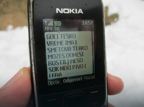 Poruka koju je Miroslav uputio Goranu