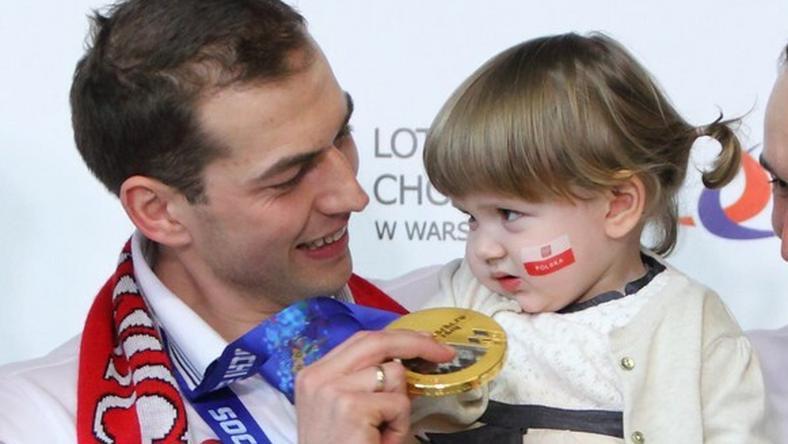 Zbigniew Bródka z córką