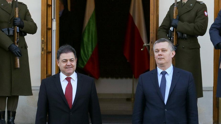 Ówczesny wicepremier i minister obrony Tomasz Siemoniak oraz były minister obrony Republiki Bułgarii Nikoaj Nenczew podczas spotkania w 2015 r.