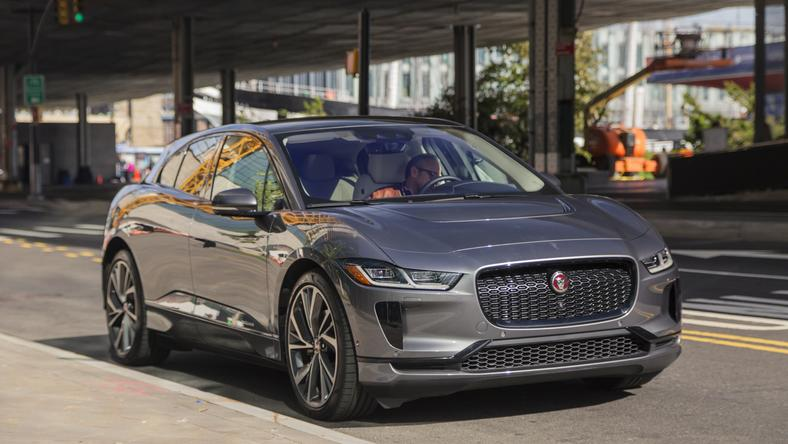 "First up, the 2019 Jaguar I-PACE EV400 HSE in ""Corris Gray."" The 2019 Jaguar I-PACE starts at $69,500 while the top-spec HSE variant starts at $80,500. With options and fees, our test car came to $86,720."