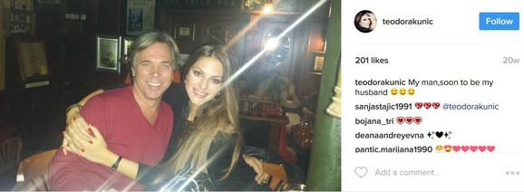 Teodora Kunić sa bivšim mužem
