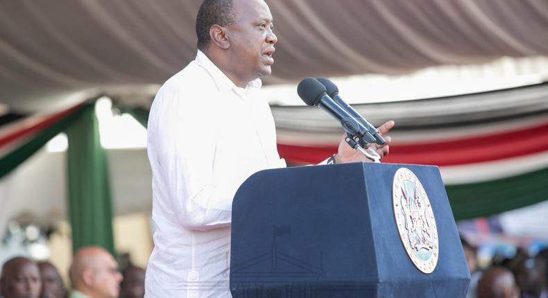 President Uhuru Kenyatta during his recent visit to Kisumu County