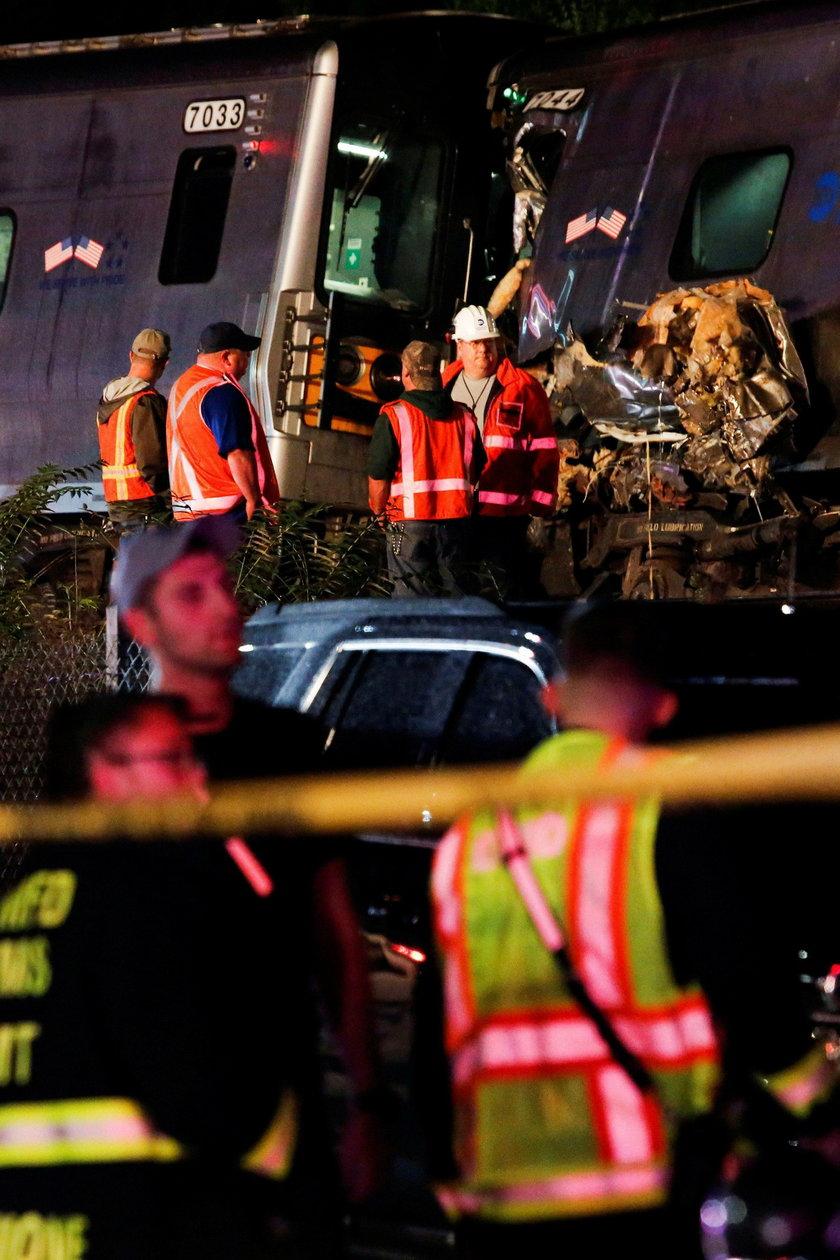 To kolejnym wypadek kolejowy w okolicach nowojorskiej aglomeracji