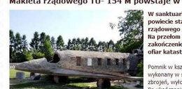 Tupolew ze śp. Gosiewskim w oknie w Kałkowie