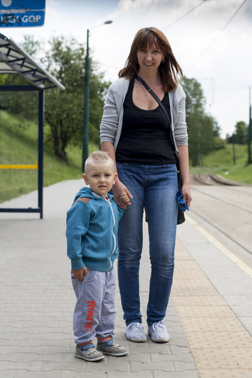 Dorota Dziura (32 l. ), mama Kubusia (3 l.) z Sosnowca