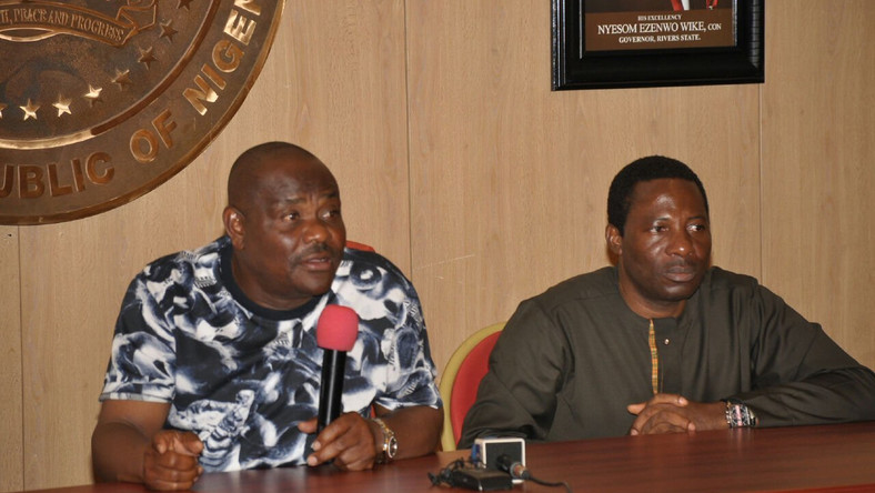 Gov Nyesom Wike (Left) and his former Information Commissioner Austin Tam-George (TheCable)