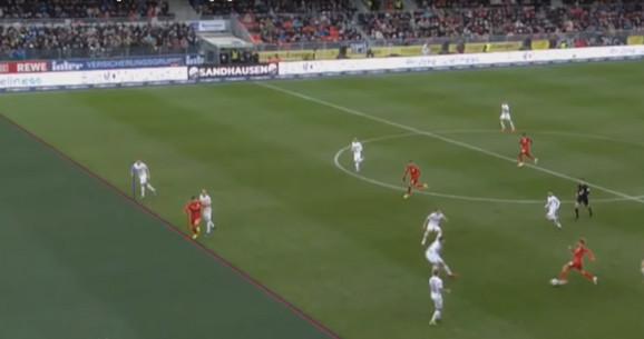 Detalj sa utakmice Saundhauzen - Štutgart