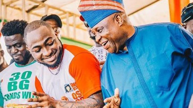 Davido celebrates uncle's victory at the election tribunal