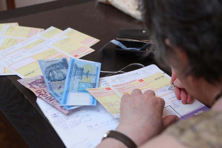Mária a 117 ezres nyugdíjával hivatalosan még nem szegény, de nem könnyű  a helyzete /Fotó: Varga Imre