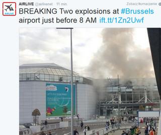 Belgijskie media: Ataku na lotnisku dokonał zamachowiec samobójca