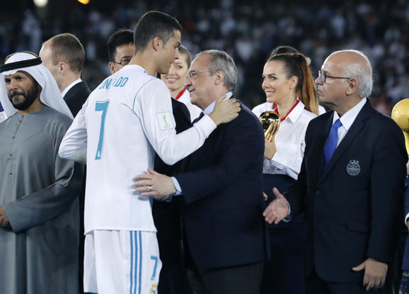 Kristijano Ronaldo i predsednik Reala Florentino Perez