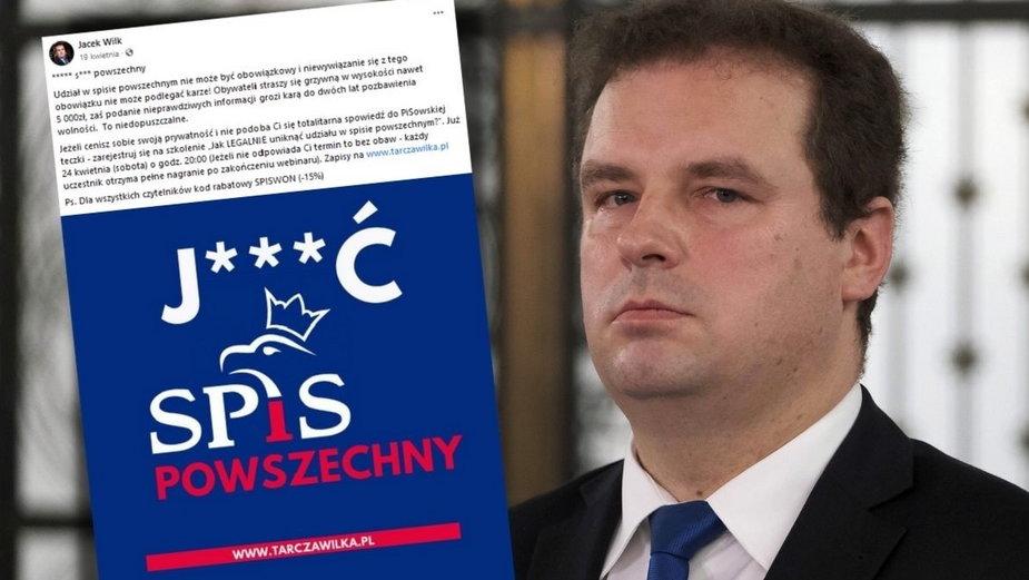 Jacek Wilk nawołuje do bojkotu spisu powszechnego. Prezes GUS chce go ukarać