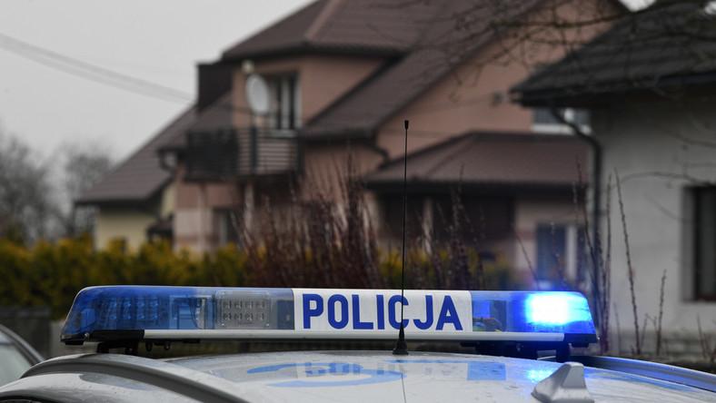Policja na miejscu tragedii we wsi Kopki na Podkarpaciu