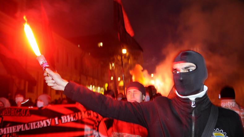 Karpaty Lwów w barwach nacjonalistów ukraińskich