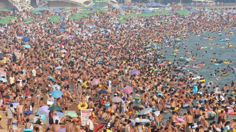 Najbardziej zatłoczone plaże - Chiny
