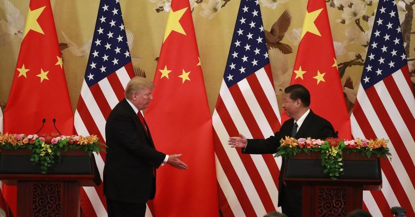 Efektem wizyty Trumpa w Chinach jest szereg umów gospodarczych