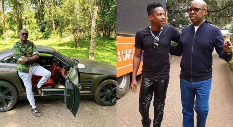 Steve Mbogo, Eric Omondi and Jimmy Wanjigi. KOT divided over Jimmy Wanjigi's Car gift to Eric  Omondi