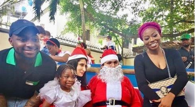 Davido attends daughter's end of year Christmas party [Photos]