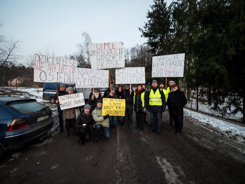 Protest mieszkańców osiedla Łagiewniki