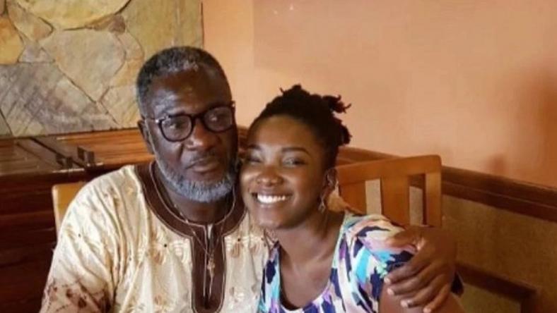 Ebony Reigns With Her Father Nana Opoku Kwarteng