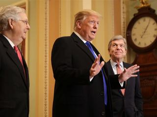 President Donald Trump Joins Senate Republicans For Their Weekly Policy Luncheon