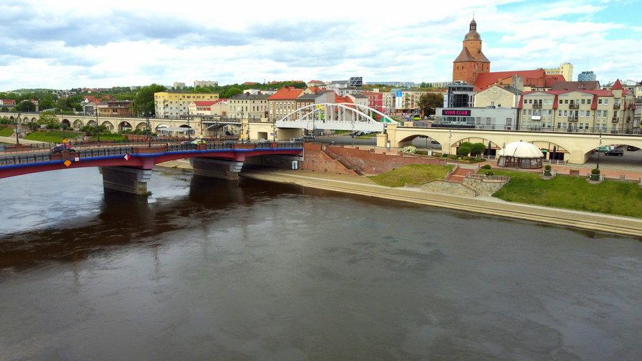 Widok na rzekę Wartę i miasto Gorzów