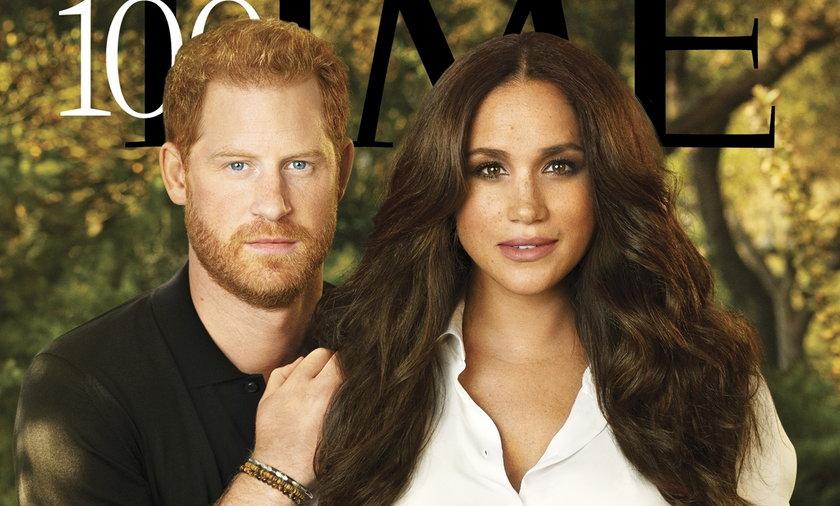 """Meghan Markle i książę Harry na okładce """"Time"""". Ile warta jest jej biżuteria?"""