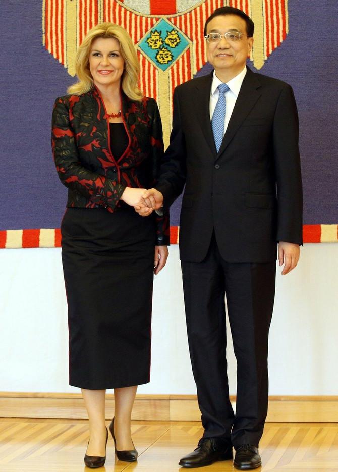 Kolinda Grabar Kitarović i Li Kećijang