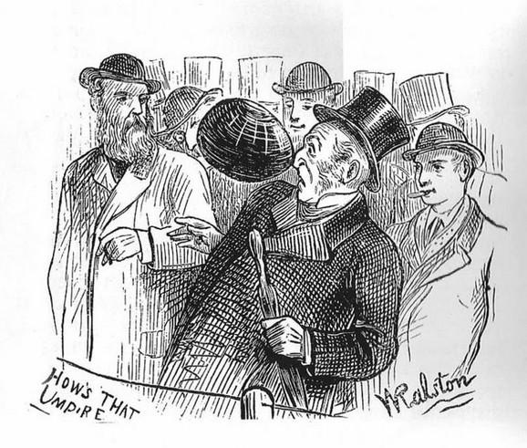Ilustracija prve međunarodne utakmice