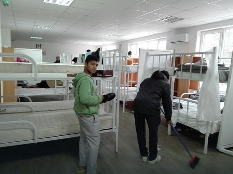 Migranti u preševskom prihvatnom centru