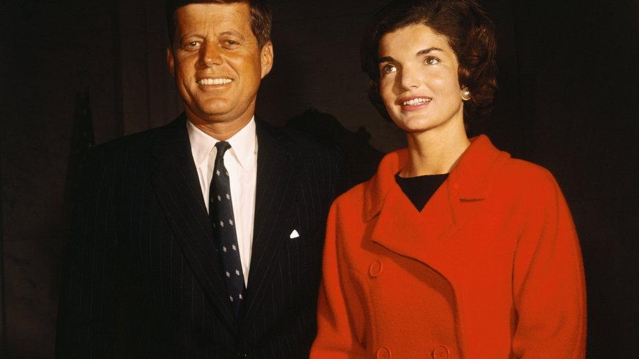 John F. Kennedy z żoną Jackie