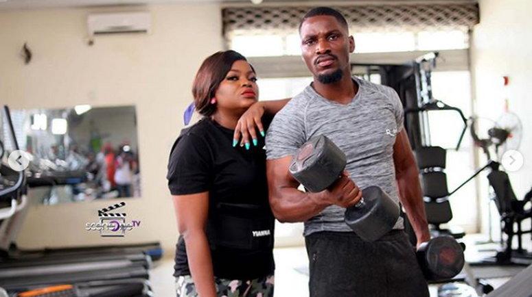Funke Akindele Bello features BBNaija's Tobi Bakare in season 17 of 'Jenifa's Diary' [Instagram/Jenifa's Diary]