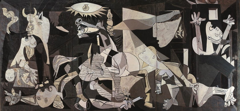 Atelier la Baume/Dürbach, karton przygotowawczy do tapiserii na podstawie pracy Pabla Picassa Guernica (04.06.1937), 1955, 330 x 700 cm, kolekcja prywatna Mas de Chabert, Saint Rémy de Provence © Succession Picasso 2014