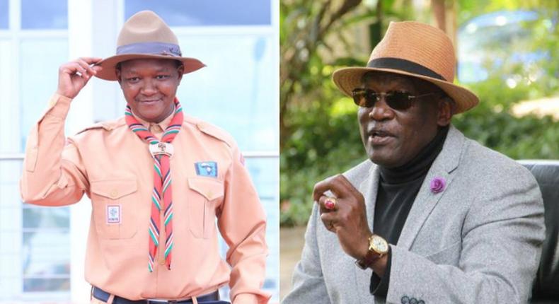 Governor Alfred Mutua  and former Machakos Senator Johnson Muthuma