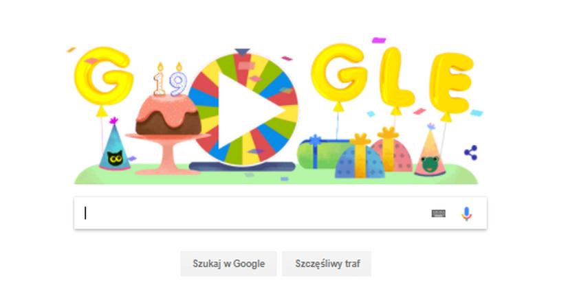 Z okazji urodzin można skorzystać z 19 gier i animacji przygotowanych przez programistów Google'a