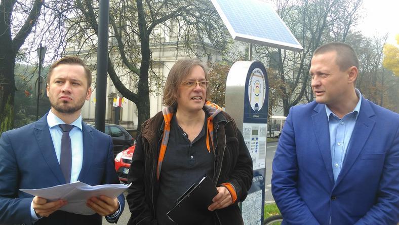 Od lewej: Aleksander Miszalski, Marcin Hyła, Grzegorz Lipiec
