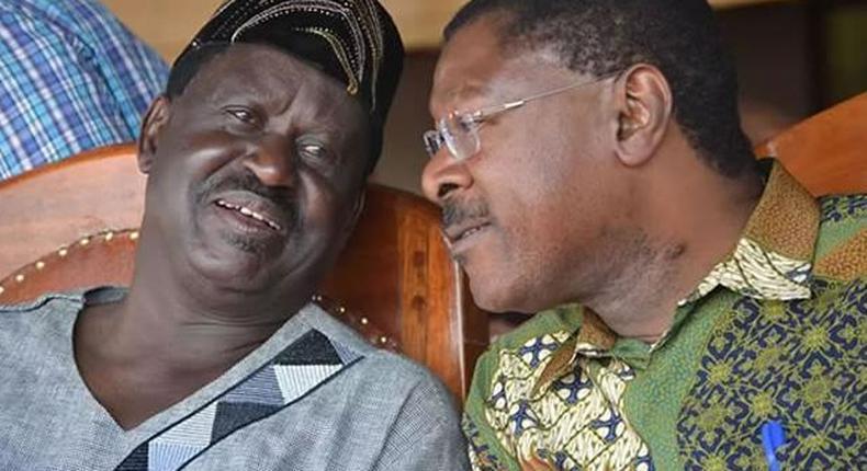 Bungoma Senator Moses Wetangula got Kenyans confused on Wednesday after he called former Prime Minister Raila Odinga the opposition leader.