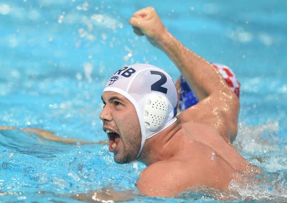 Dušan Mandić tokom finala Svetske lige Srbija - Hrvatska