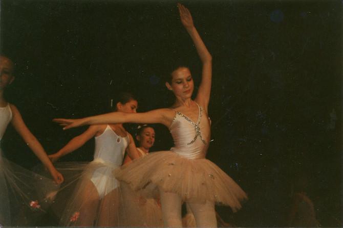 Dragana kao učenica baletske škole