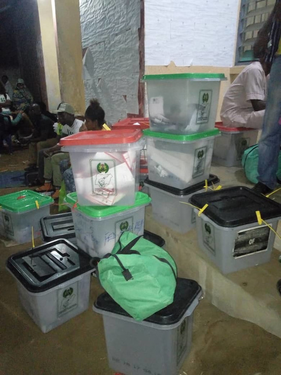 Voters results arrive INEC collation center