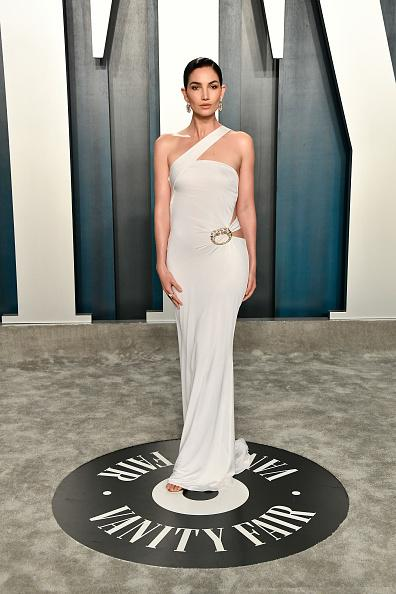 Lily Aldridge na after party Vanity Fair 2020.