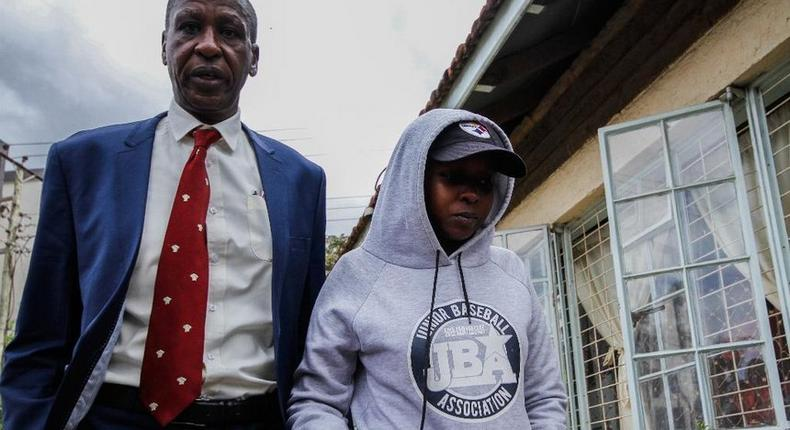 TV journalist Jacque Maribe with her father Mwangi Maribe who has said that her life will be in danger if she testifies against Joe Irungu.